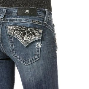 Miss Me Flare Bootcut Jeans Studded Sz 27